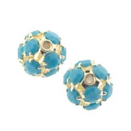 strass ball 10mm SPL/turquoise p/6