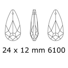 6100 hanger 24 x 12mm crystal (001) p/2