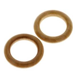 houten ring naturel gelakt 30mm p/10