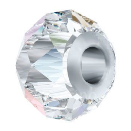 5940 BeCharmed Briolette Bead 14 mm Crystal AB (001 AB) Steel p/st