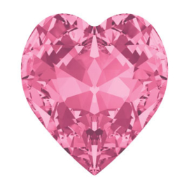 4800 Fancy Stone heart 6.6 x 6 mm rose F (209) p/6