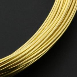 Aluminiumdraad 1mm x 10 meter goud p/4