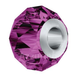 5940 BeCharmed Briolette Bead 14 mm Amethyst (204) Steel p/st