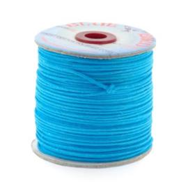 waxkoord 1.5 mm rol p/100 meter blauw