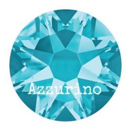 2028 plaksteen 4,8 mm / SS 20 aquamarine F (202)  p/50
