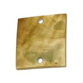 tussenzetsel schelp vierkant 2 gaatjes 17 x 17 mm naturel  p/10