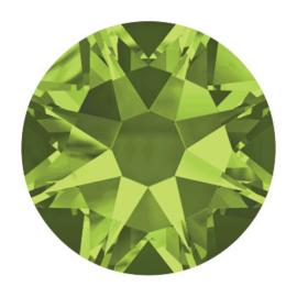 2028 plaksteen 3,5 mm / SS 14 olivine F (228) p/100