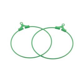 oorbel ornament 30mm p/6 paar groen