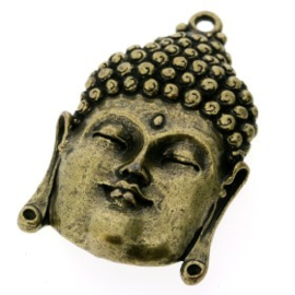 Decoratieve hanger buddha open ogen MAG 50 x 30 mm p/2