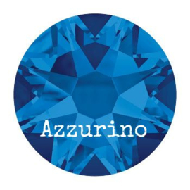 2028 plaksteen 4,8 mm / SS 20 capri blue F (243)  p/50