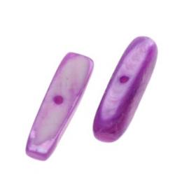 kraal troca schelp mini stick paars  15 x 4 mm  p/50