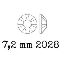 2028 plaksteen 7,2 mm / SS 34 crystal volcano F (001 VOL)  p/12