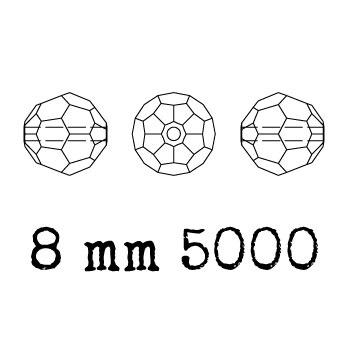 5000 kraal rond facet 8 mm crystal golden shadow (001 GSHA) p/12