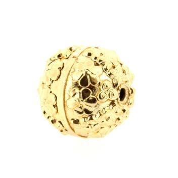 kraal metaal goud 26 mm p/4