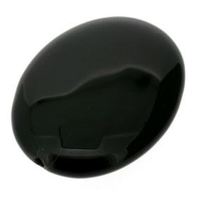 kraal steen black mano 36 x 26 mm p/6