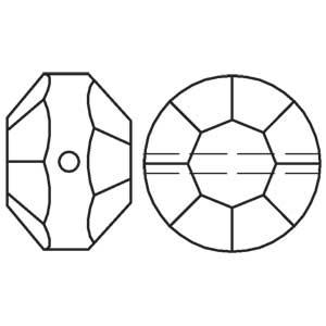 5100 kraal 5 mm crystal (001) p/20