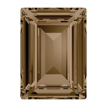 4527 Step Cut Fancy Stone 14 x 10 mm smoky quartz F (225) p/2