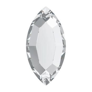 2200/2 plaksteen ovaal 8 x 4 mm crystal F (001) p/20