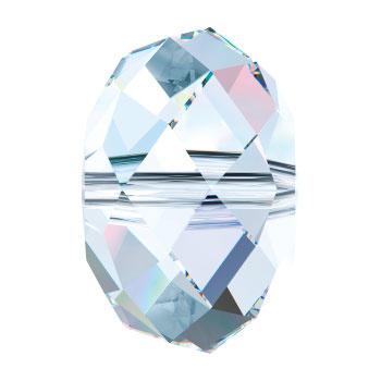 5040 kraal 6 mm briolette crystal ab (001 AB) p/20
