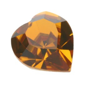 4800 Fancy Stone heart 11 x 10 mm topaz F (203) p/6