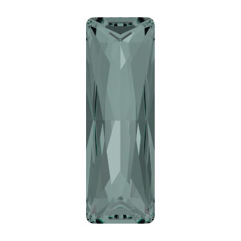 4547 Princess Baguette 24x8 mm black diamond (215) p/2