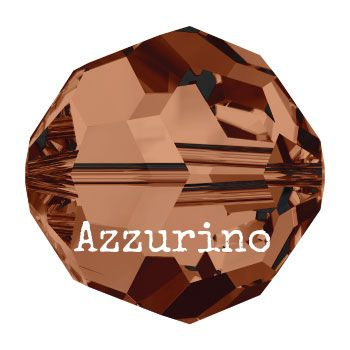 5000 kraal rond facet 8 mm smoked topaz AB (220 AB) p/12