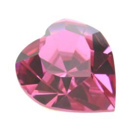 4800 Fancy Stone heart 11 x 10 mm rose F (209) p/6