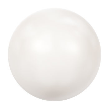 5810 12 mm Crystal white pearl (001 650) p/10
