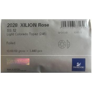 2028 plaksteen 3,2 mm / SS12 light colorado topaz F (246) p/1440