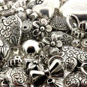 kunststof kralenmix metal look AS 350 gram