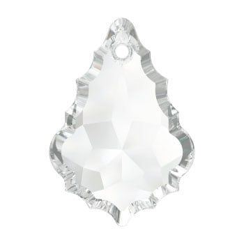 6091 Baroque hanger 38 x 25 mm crystal (001) p/2
