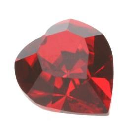 4800 Fancy Stone heart 11 x 10 mm light siam F (227) p/6