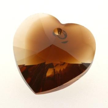 6228 Xilion heart pendant 18 x 17,5 mm topaz blend (722) p/2