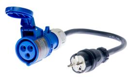 Adapter voor industriële contactdozen 16A of 32A