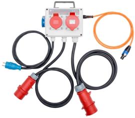 Sonel 3-fasen lekstroomadapter t.b.v. PAT 85/86
