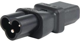 Verloop IEC 60320 C6 aansluiting naar IEC 60320 C13