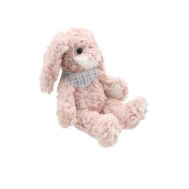 Roze konijn met sjaaltje