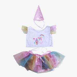 Unicorn Regenboog outfit 40cm