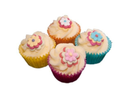 Mini cupcake Flower Power