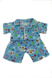 Blauwe pyjama 25cm