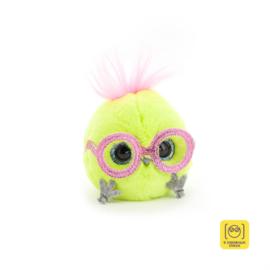 Whozie neon groen met roze bril
