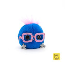 Whozie donkerblauw met roze bril