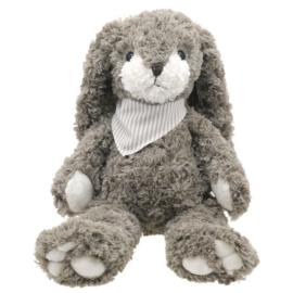 Grijs konijn met sjaaltje