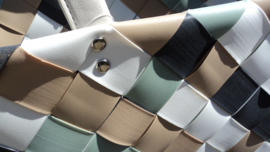 Gevlochten shopper / strandtas kunststof pastel model Belfast