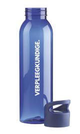 Blauw VERPLEEGKUNDIGE. Waterfles