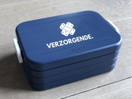 Donkerblauw VERZORGENDE. Lunchbox