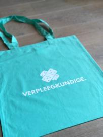 Turquoise VERPLEEGKUNDIGE. met pleister katoenen tas (Enkelzijdig)