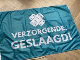 Lichtblauw VERZORGENDE. geslaagd vlag