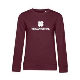 Bordeaux VERZORGENDE. Ladyfit Sweater