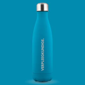 Blauw Soft VERPLEEGKUNDIGE. Thermosfles Krijt